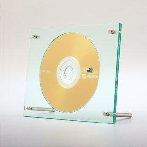 画像1: アクリルフレームCD/DVDディスプレイ(ガラス色)