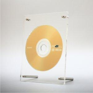 画像1: アクリルフレームCD/DVDディスプレイ